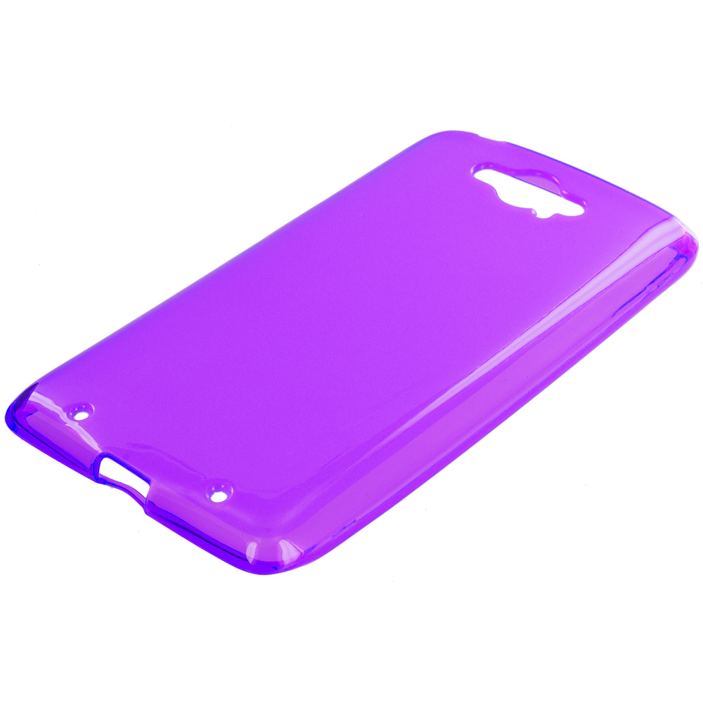 Motorola Droid Turbo Purple TPU Rubber Skin Case Cover