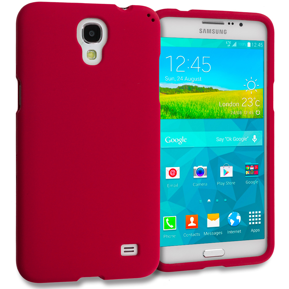 Samsung Galaxy Mega 2 Red Hard Rubberized Case Cover