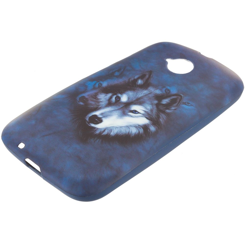 Motorola Moto E LTE 2nd Generation Wolf TPU Design Soft Rubber Case Cover