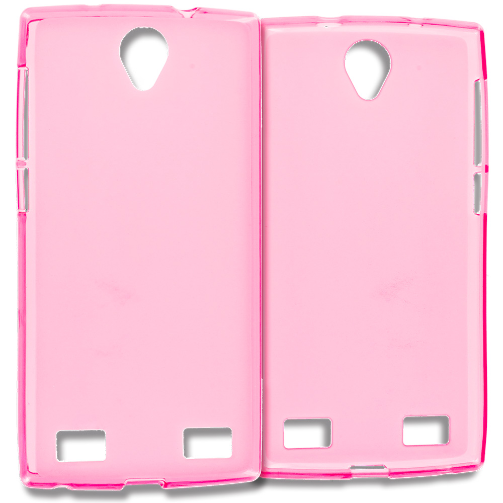 ZTE Zmax 2 Hot Pink TPU Rubber Skin Case Cover