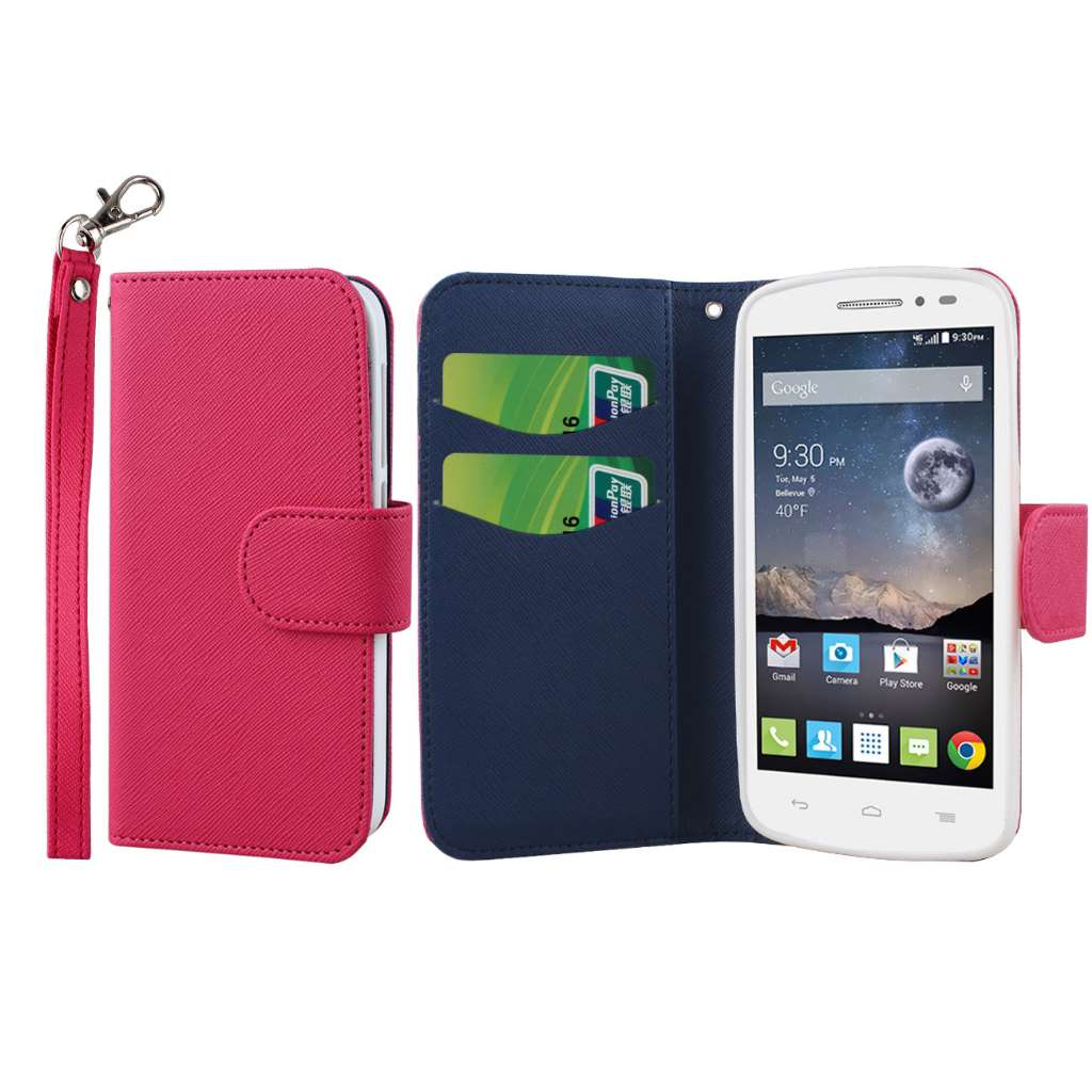 Alcatel OneTouch POP Astro - Hot Pink MPERO FLEX FLIP Wallet Case Cover