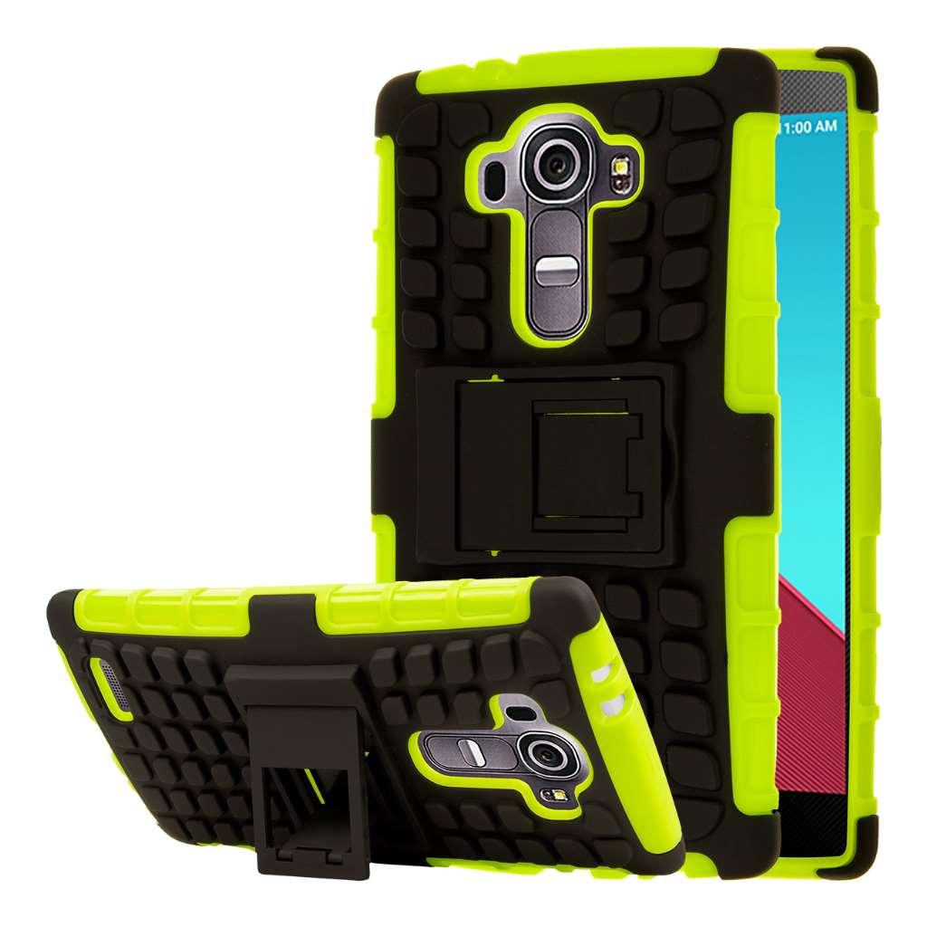 LG G4 - Neon Green MPERO IMPACT SR - Kickstand Case Cover