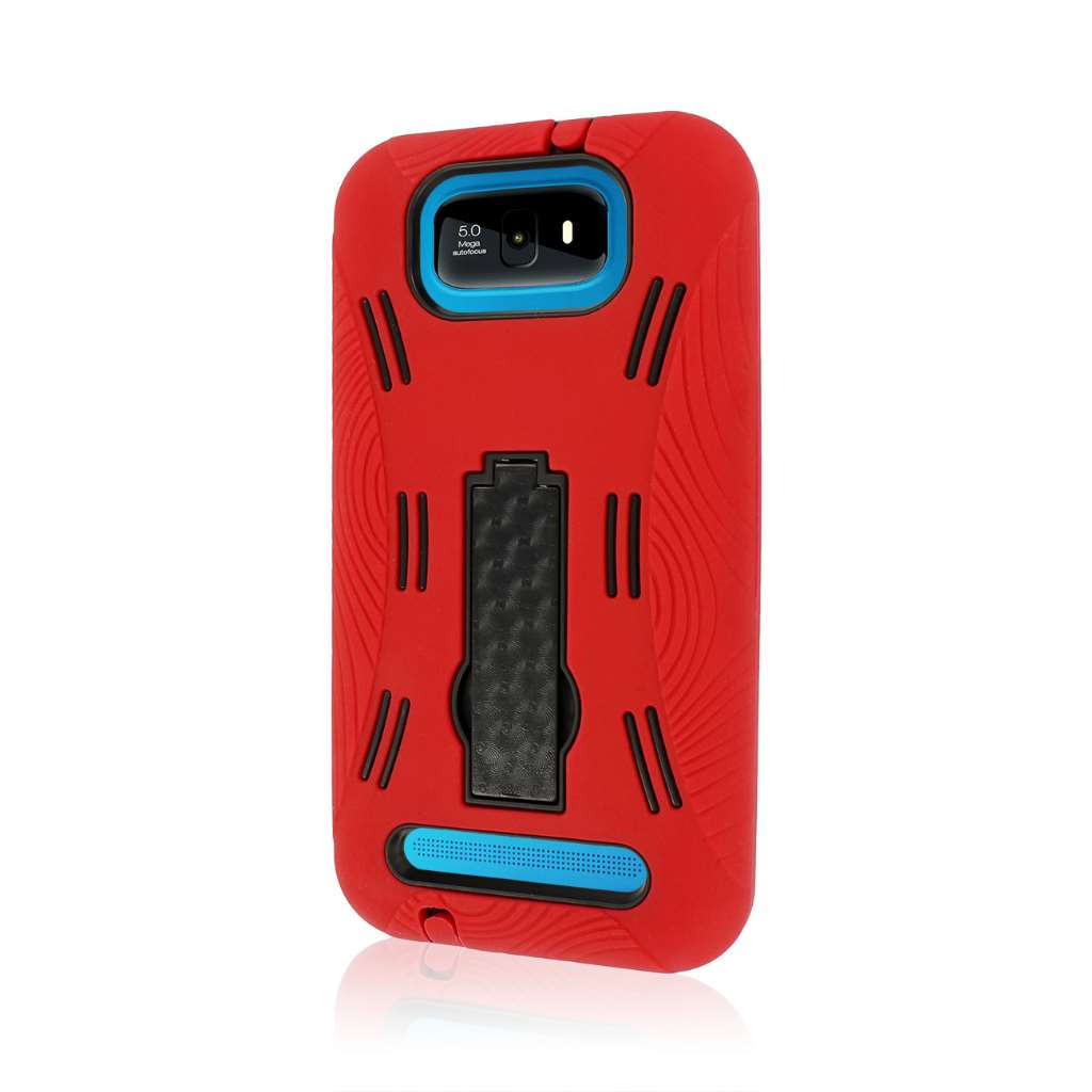 BLU Studio 5.5 - Red MPERO IMPACT XL - Kickstand Case Cover