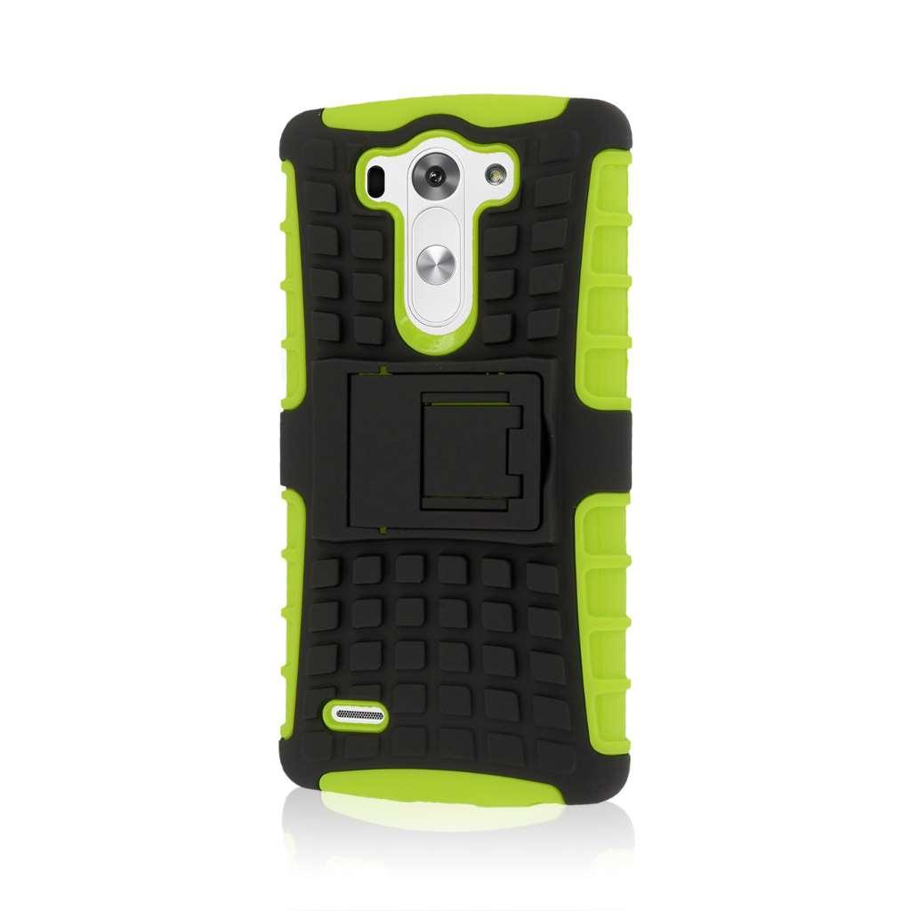 LG G3 Mini - Neon Green MPERO IMPACT SR - Kickstand Case Cover