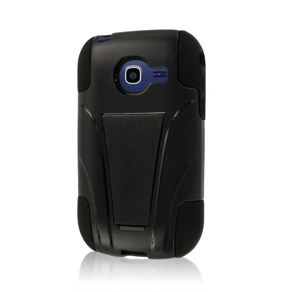 Samsung Freeform 5 R480 - Black MPERO IMPACT X - Kickstand Case Cover