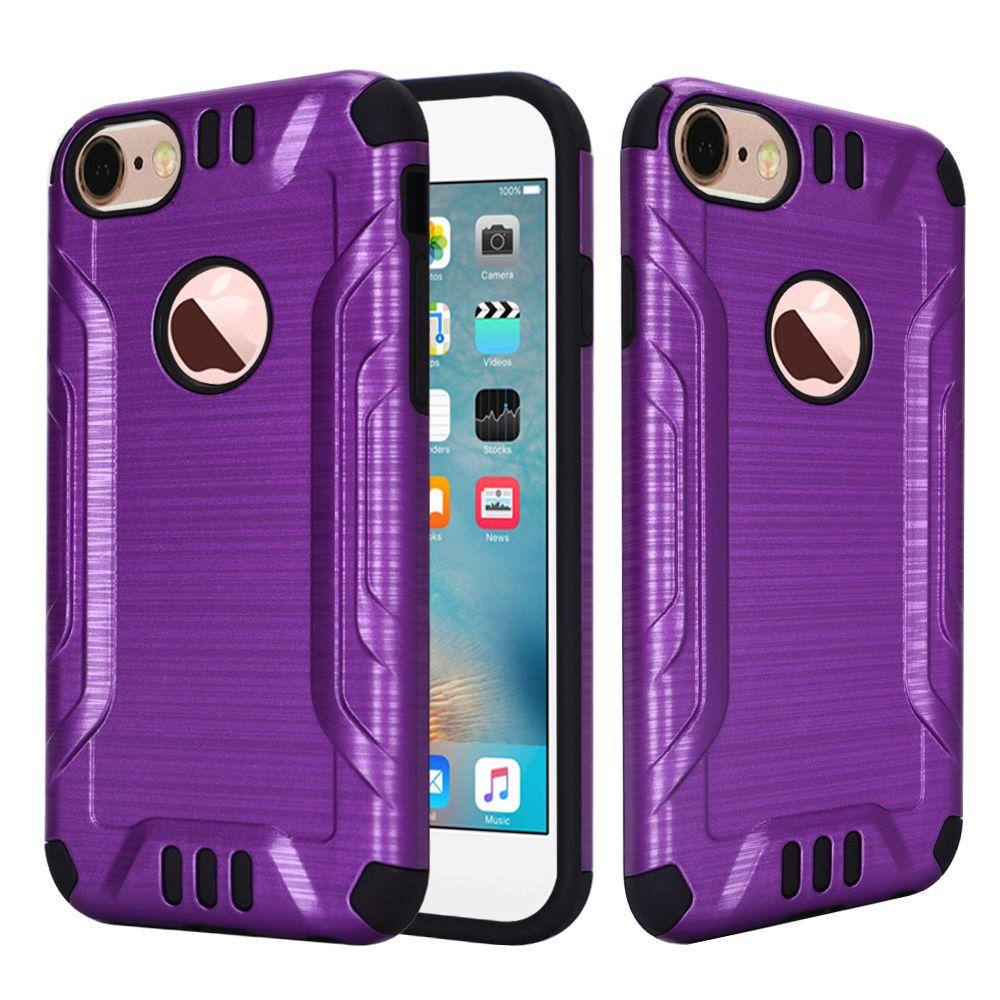 for apple iphone 7 7 plus brushed metallic metal