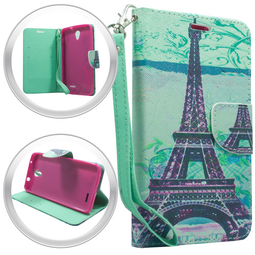 For-ZTE-Avid-Trio-Cheers-Phone-Wallet-Case-With-Credit-Card-ID-Pockets-Strap