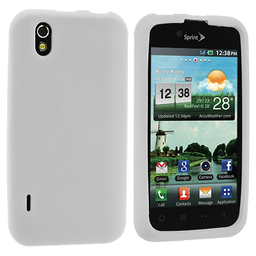 LG Optimus Black P970 / Marquee White Silicone Soft Skin Case Cover