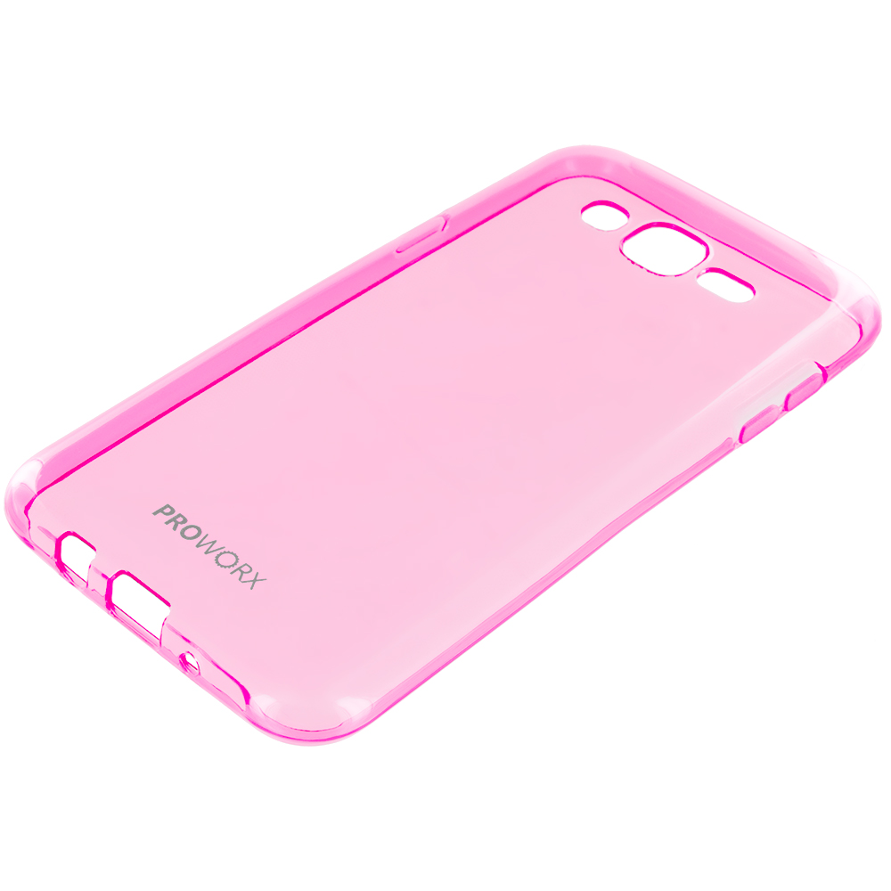 Samsung Galaxy J7 Hot Pink ProWorx Ultra Slim Thin Scratch Resistant TPU Silicone Case Cover