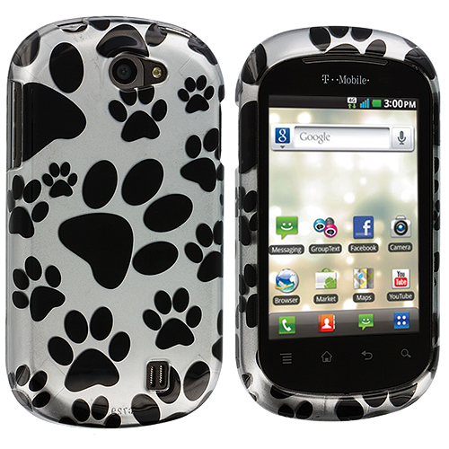 LG DoublePlay C729 / Flip II Dog Paw Design Crystal Hard Case Cover