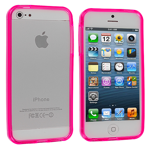 Apple iPhone 5/5S/SE Combo Pack : Hot Pink TPU Bumper : Color Hot Pink
