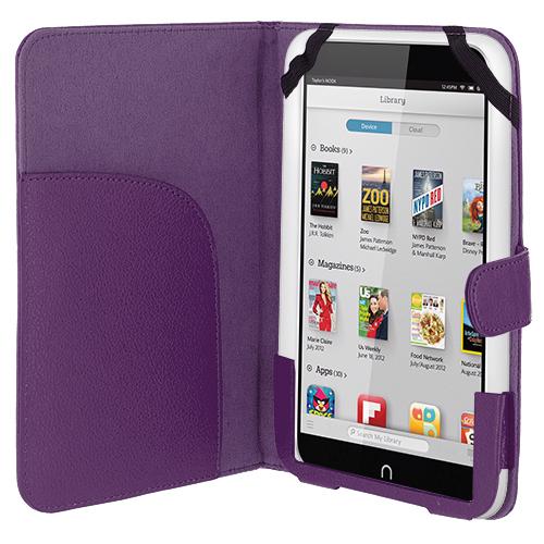 Barnes & Noble Nook HD 7.0 Purple Folio Pouch Case Cover Stand