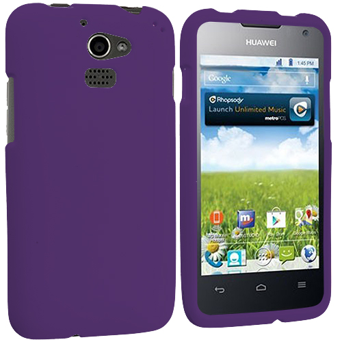 Huawei Premia 4G Purple Hard Rubberized Case Cover