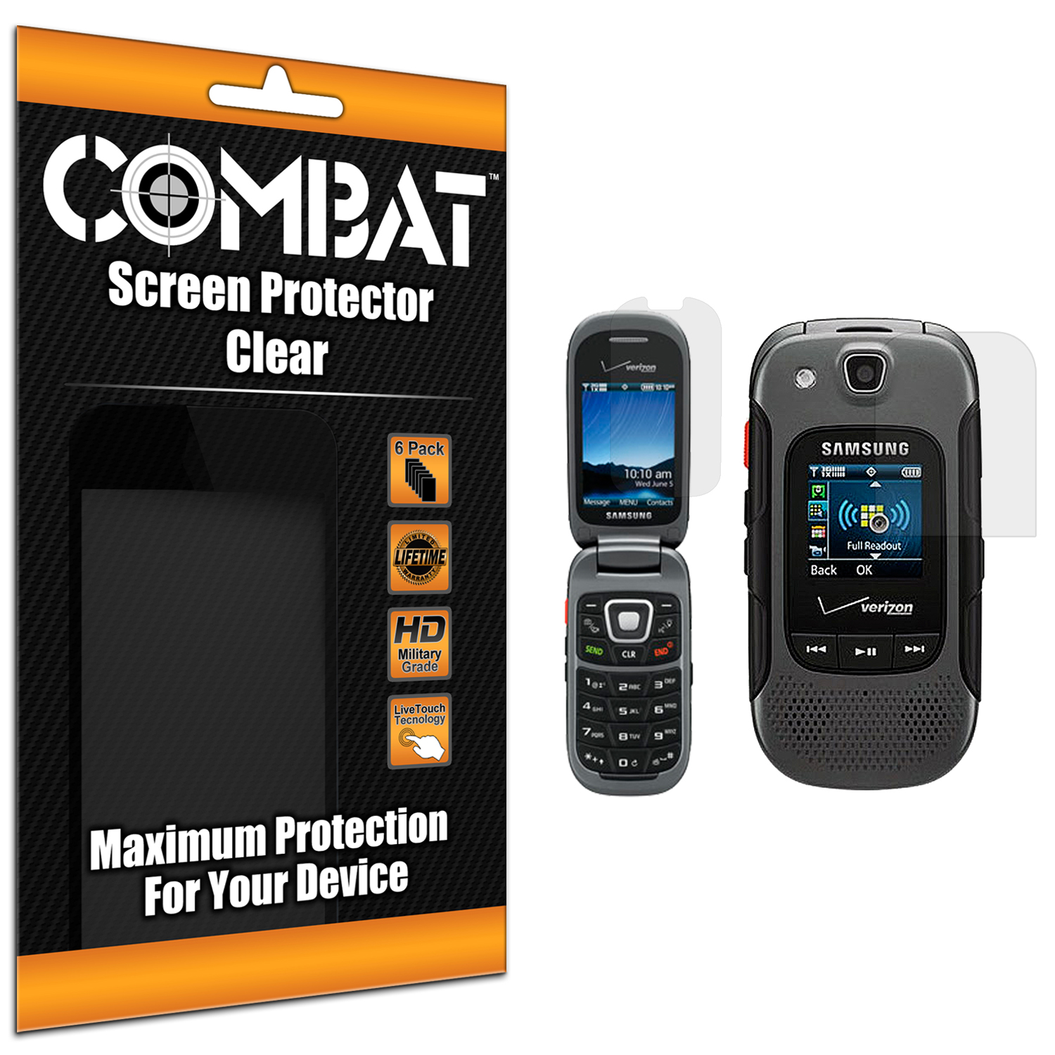 Samsung Convoy 3 U680 Combat 6 Pack HD Clear Screen Protector