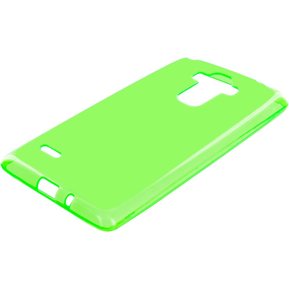 LG G Stylo LS770 / G4 Stylus Neon Green TPU Rubber Skin Case Cover