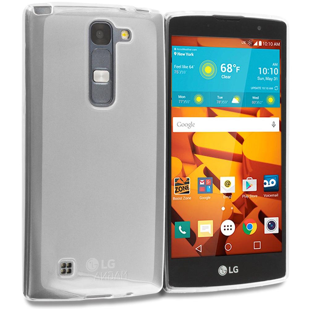 LG Volt 2 LS751 Clear TPU Rubber Skin Case Cover