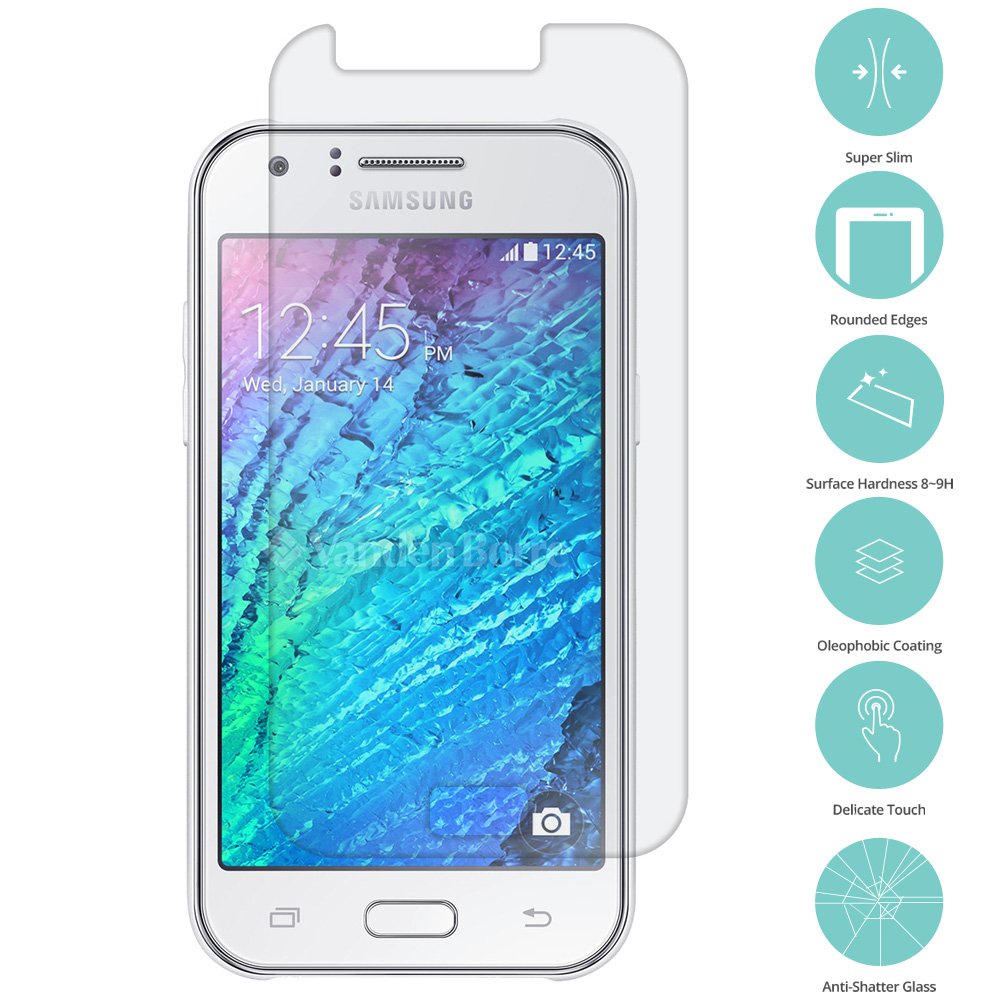 Samsung Galaxy J1 Clear Tempered Glass Film Screen Protector Clear