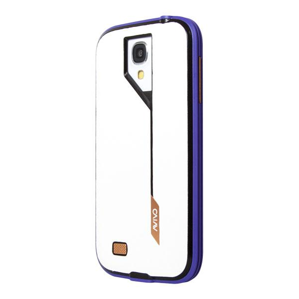 Samsung Galaxy S4 Avivo Violet Frame and White Carbon Jacket Case Case