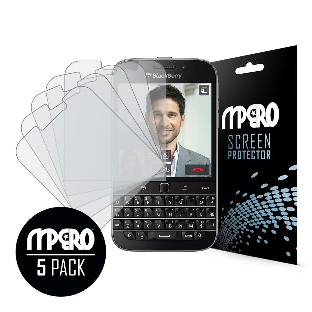 BlackBerry Classic MPERO 5 Pack of Matte Screen Protectors