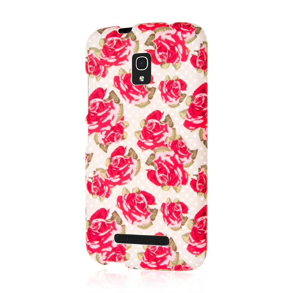 Alcatel OneTouch Pop Mega LTE - Red Roses MPERO SNAPZ - Rubberized Case