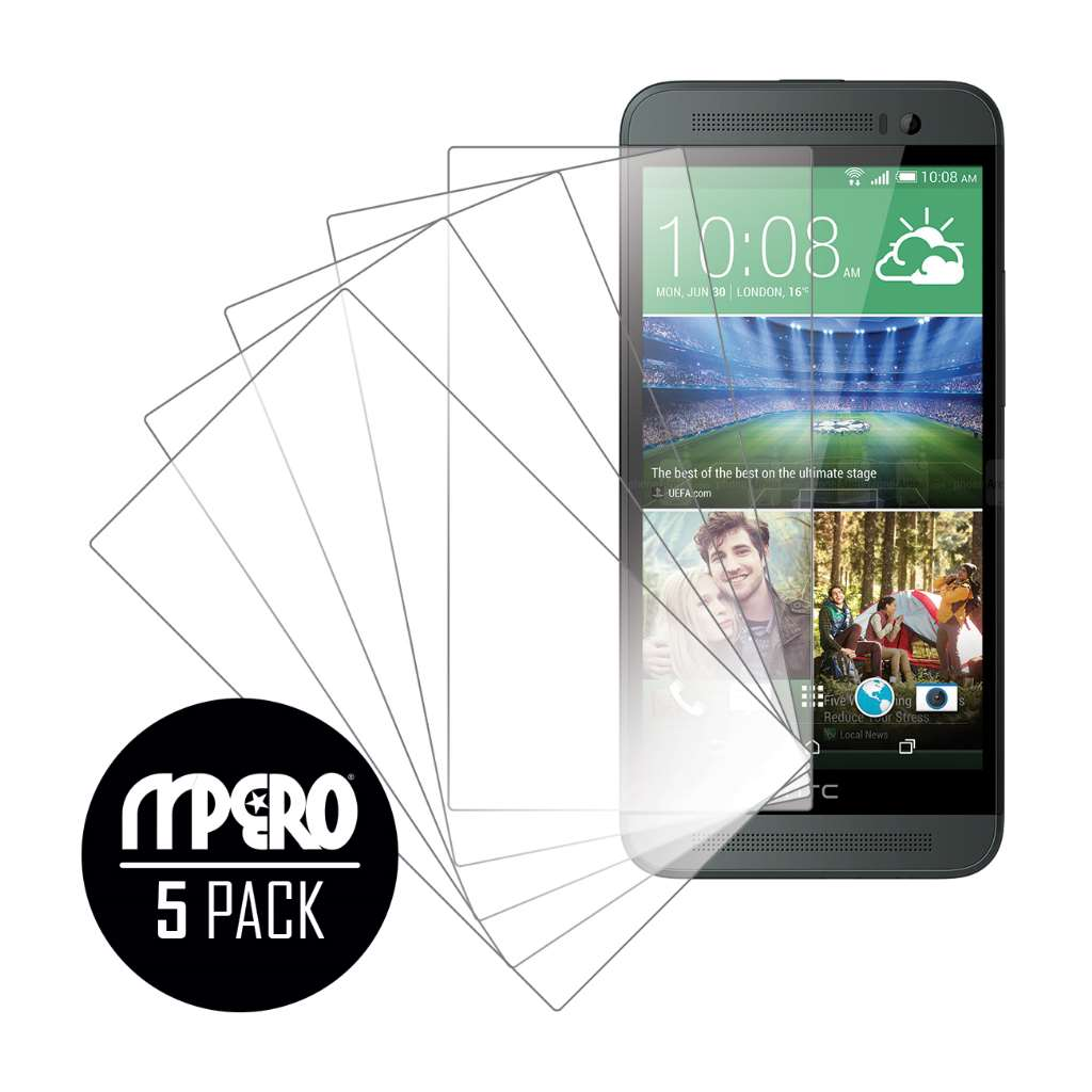 HTC One E8 MPERO 5 Pack of Ultra Clear Screen Protectors