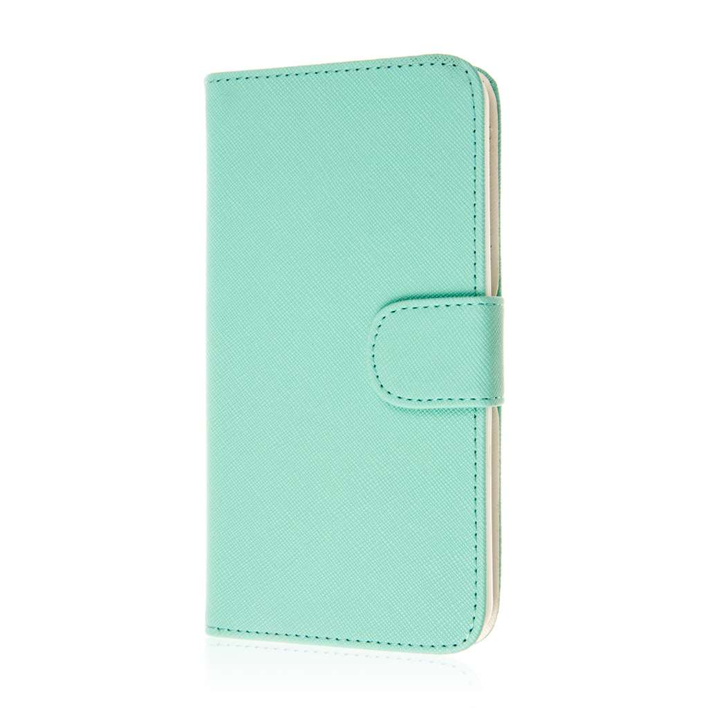 HTC Desire 816 - Mint MPERO FLEX FLIP Wallet Case Cover