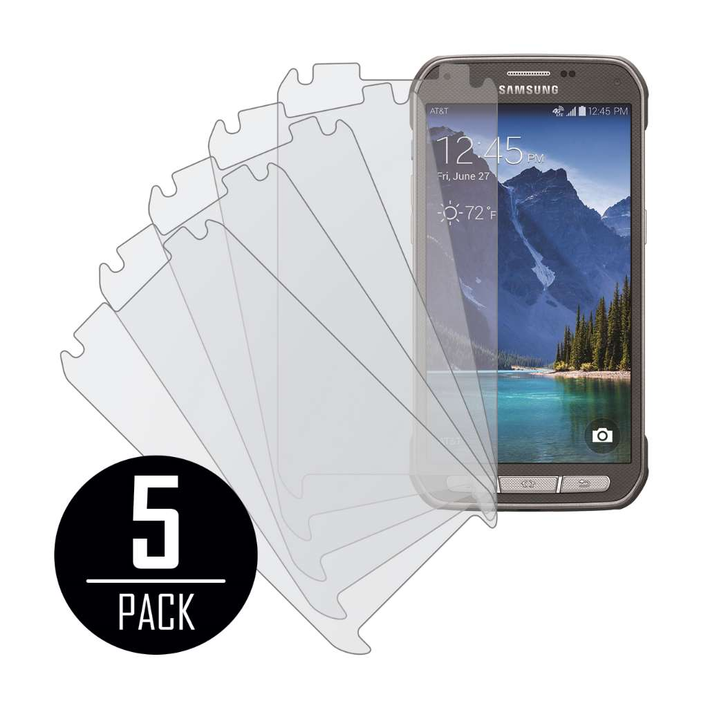 Samsung Galaxy S5 Active MPERO 5 Pack of Matte Screen Protectors