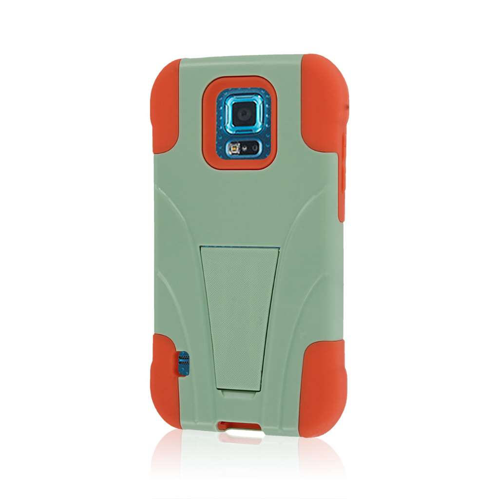 Samsung Galaxy S5 Sport - Coral / Mint MPERO IMPACT X - Kickstand Case Cover