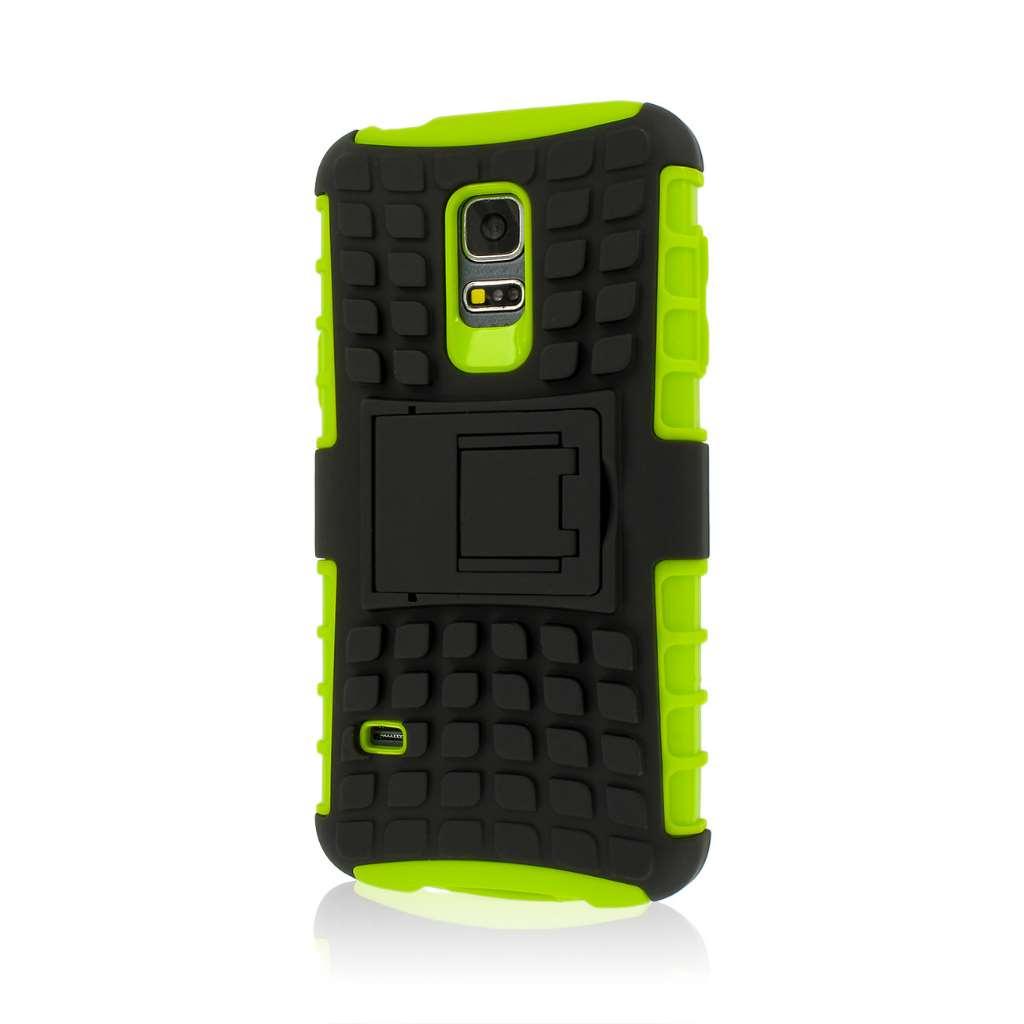 Samsung Galaxy S5 Mini - Neon Green MPERO IMPACT SR - Kickstand Case Cover