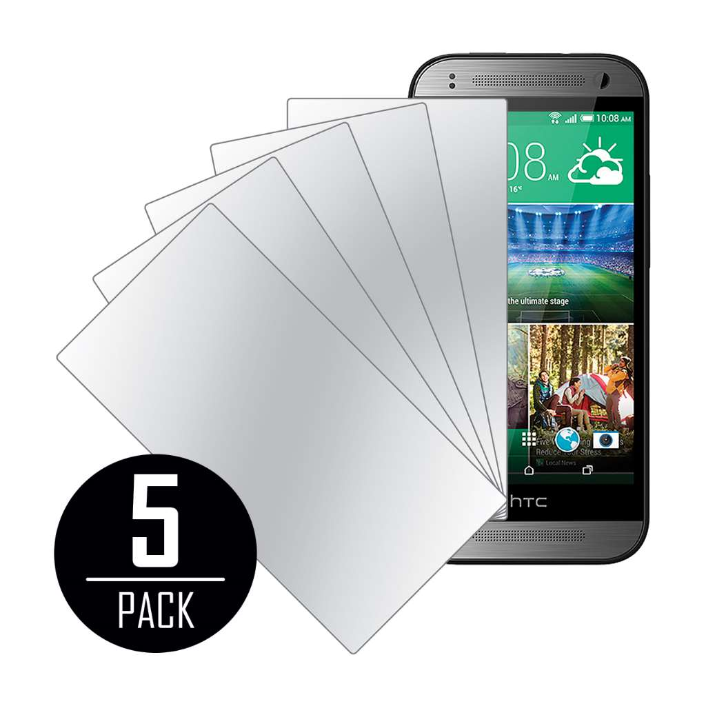HTC One mini 2 MPERO 5 Pack of Mirror Screen Protectors