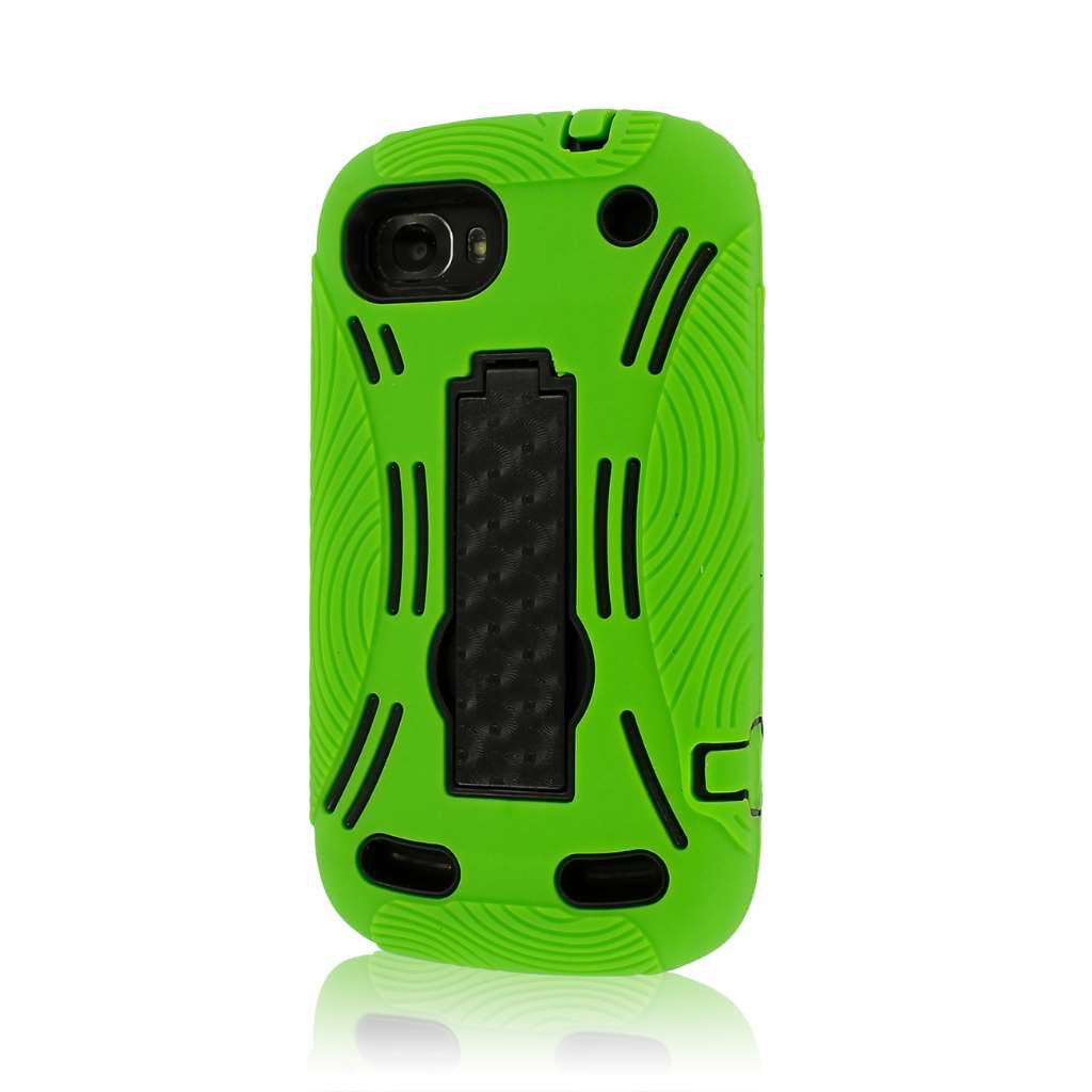 ZTE Warp Sequent N861 - Neon Green MPERO IMPACT XL - Kickstand Case Cover