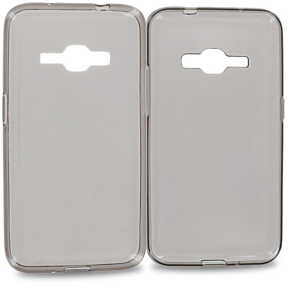 For Samsung Galaxy J1 2016 / Amp 2 / Express 3 / Luna S120 Smoke TPU Rubber Skin Case Cover