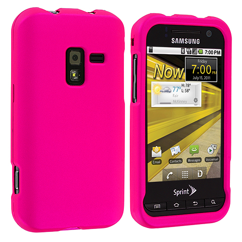 Samsung Conquer 4G D600 Hot Pink Hard Rubberized Case Cover