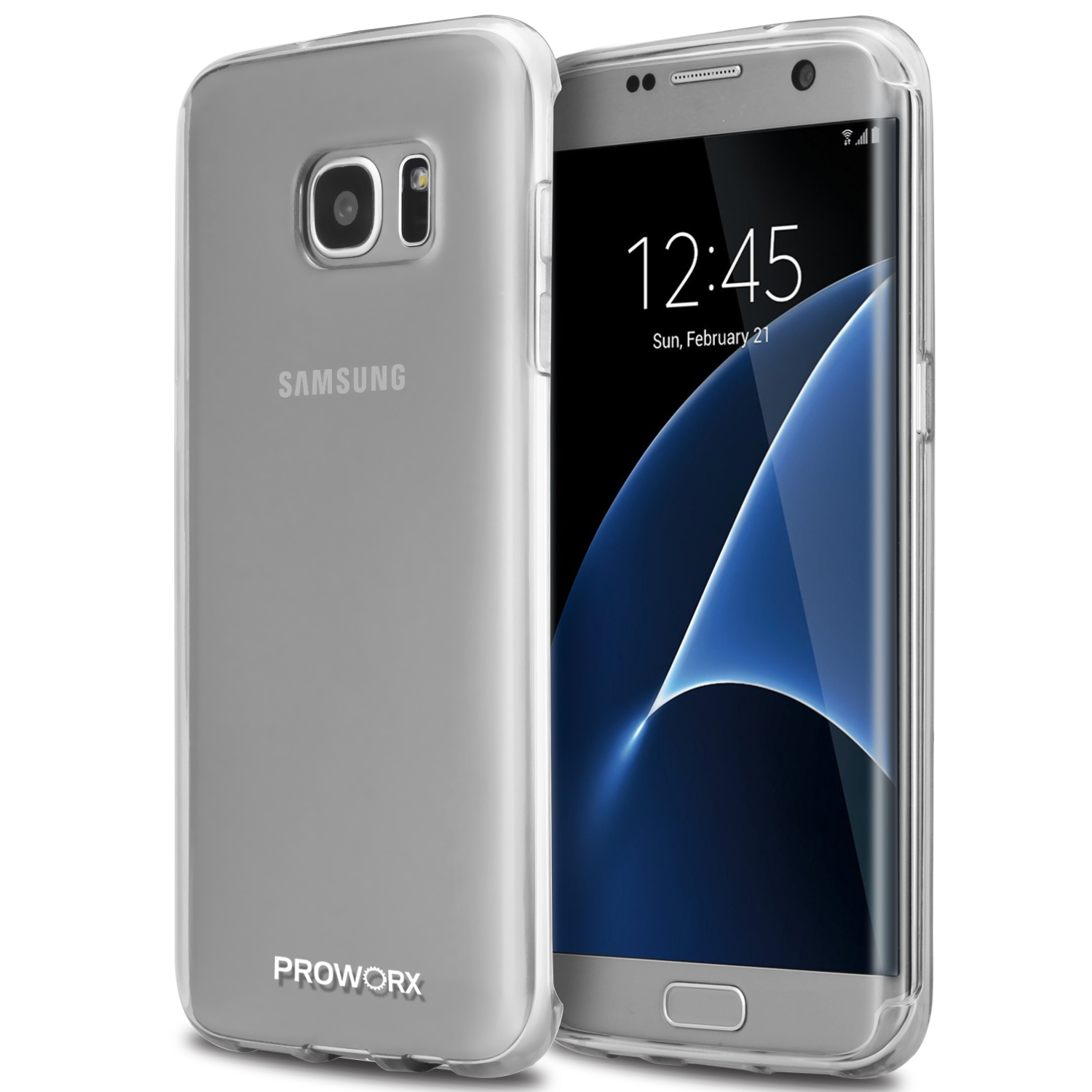 Samsung Galaxy S7 Edge Clear ProWorx Ultra Slim Thin Scratch Resistant TPU Silicone Case Cover