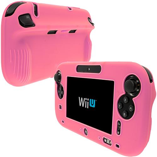 Nintendo Wii U Gamepad Controller Pink Full Silicone Soft Skin Case Cover
