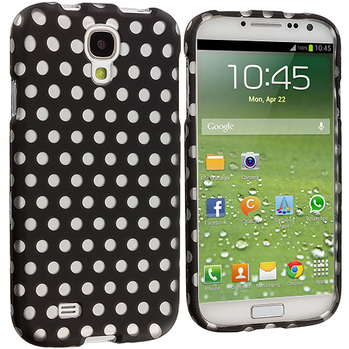 Samsung Galaxy S4 Polka Dot Hard Rubberized Design Case Cover