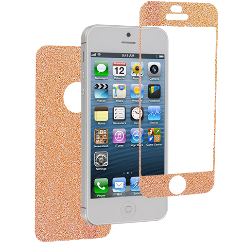 Apple iPhone 5 / 5S Orange Glittter LCD Screen Protector