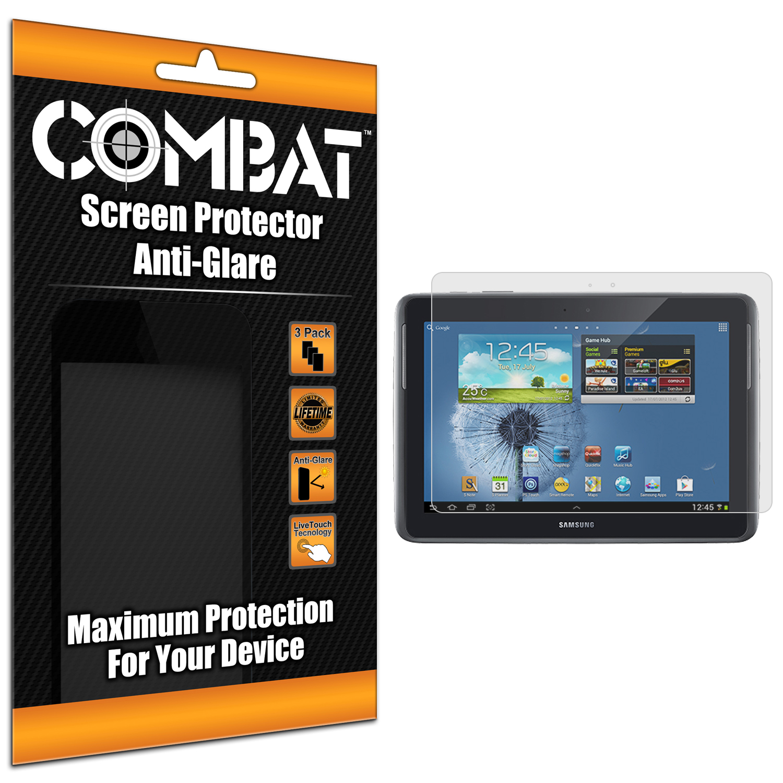 Samsung Galaxy Note 10.1 Combat 3 Pack Anti-Glare Matte Screen Protector