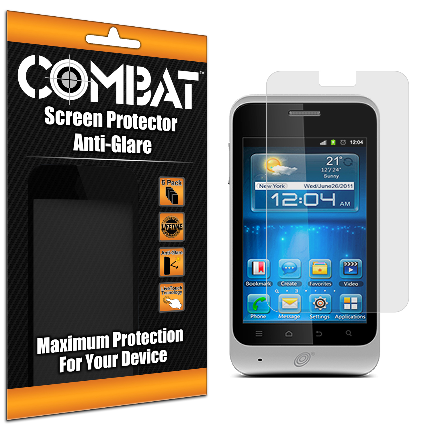 ZTE Illustra Z788G Combat 6 Pack Anti-Glare Matte Screen Protector