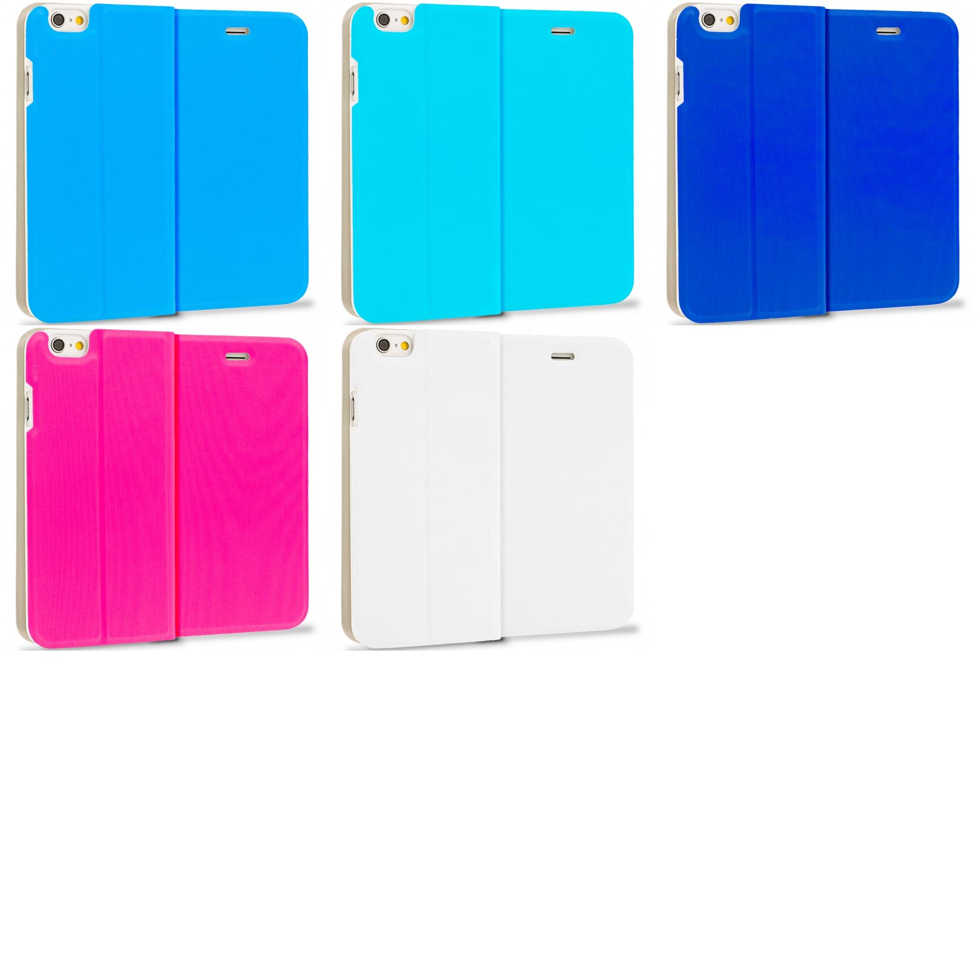 Apple iPhone 6 6S (4.7) 5 in 1 Combo Bundle Pack - Slim Flip Wallet Case Cover
