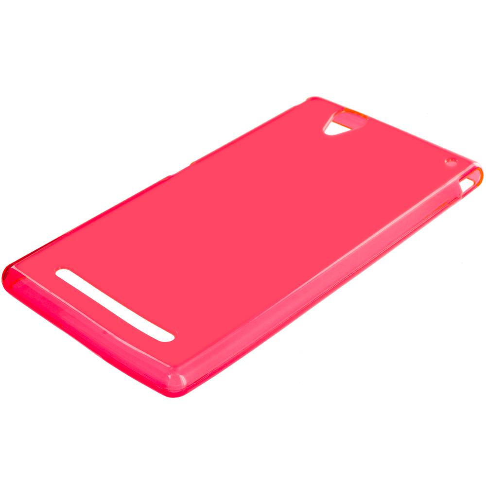 Sony Xperia T2 Ultra D5303 Red TPU Rubber Skin Case Cover