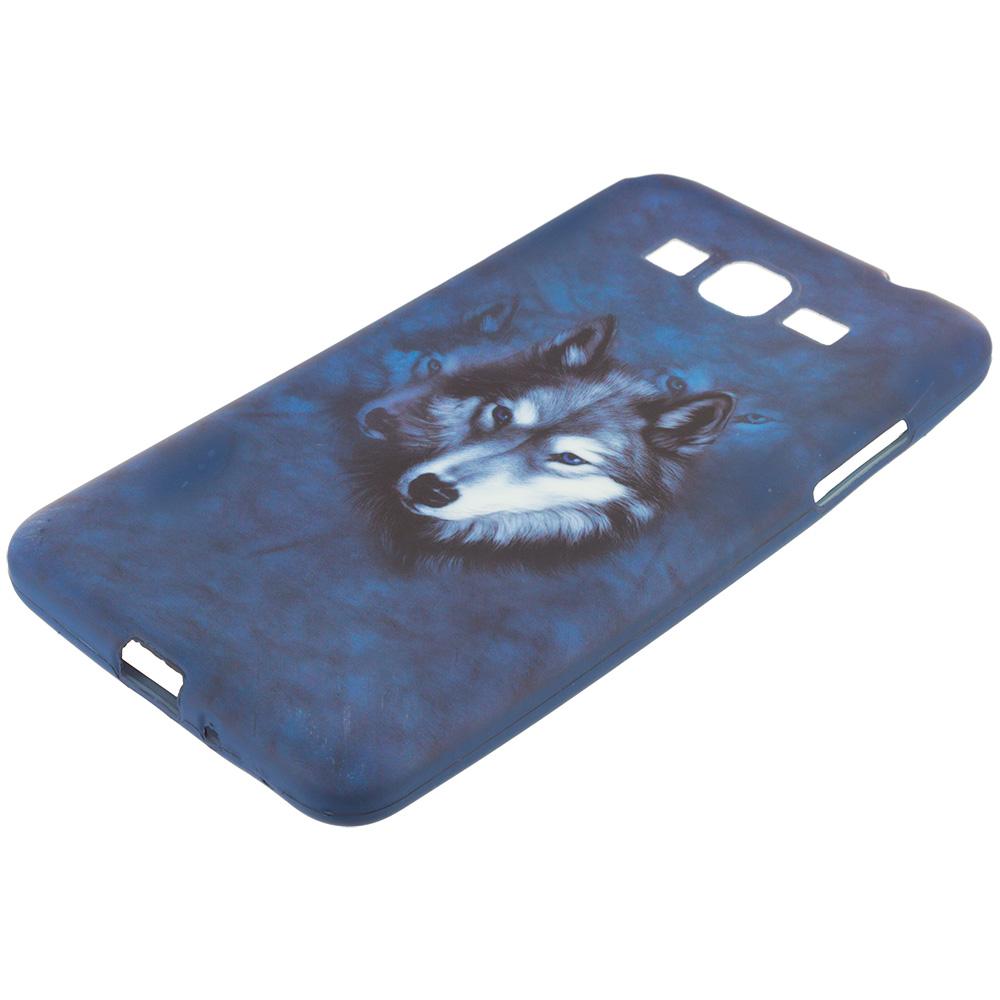 Samsung Galaxy Grand Prime LTE Wolf TPU Design Soft Rubber Case Cover