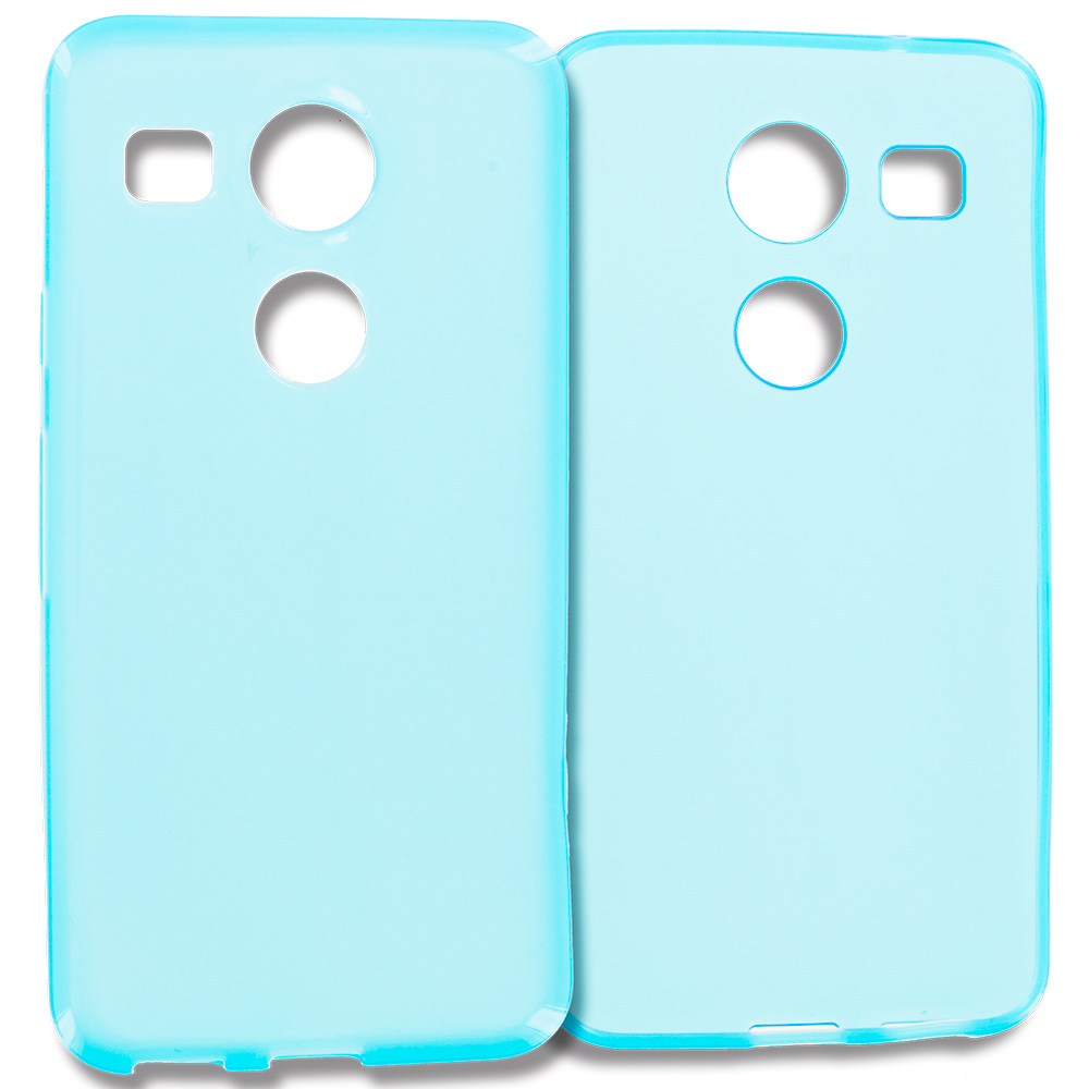 LG Google Nexus 5X Baby Blue TPU Rubber Skin Case Cover