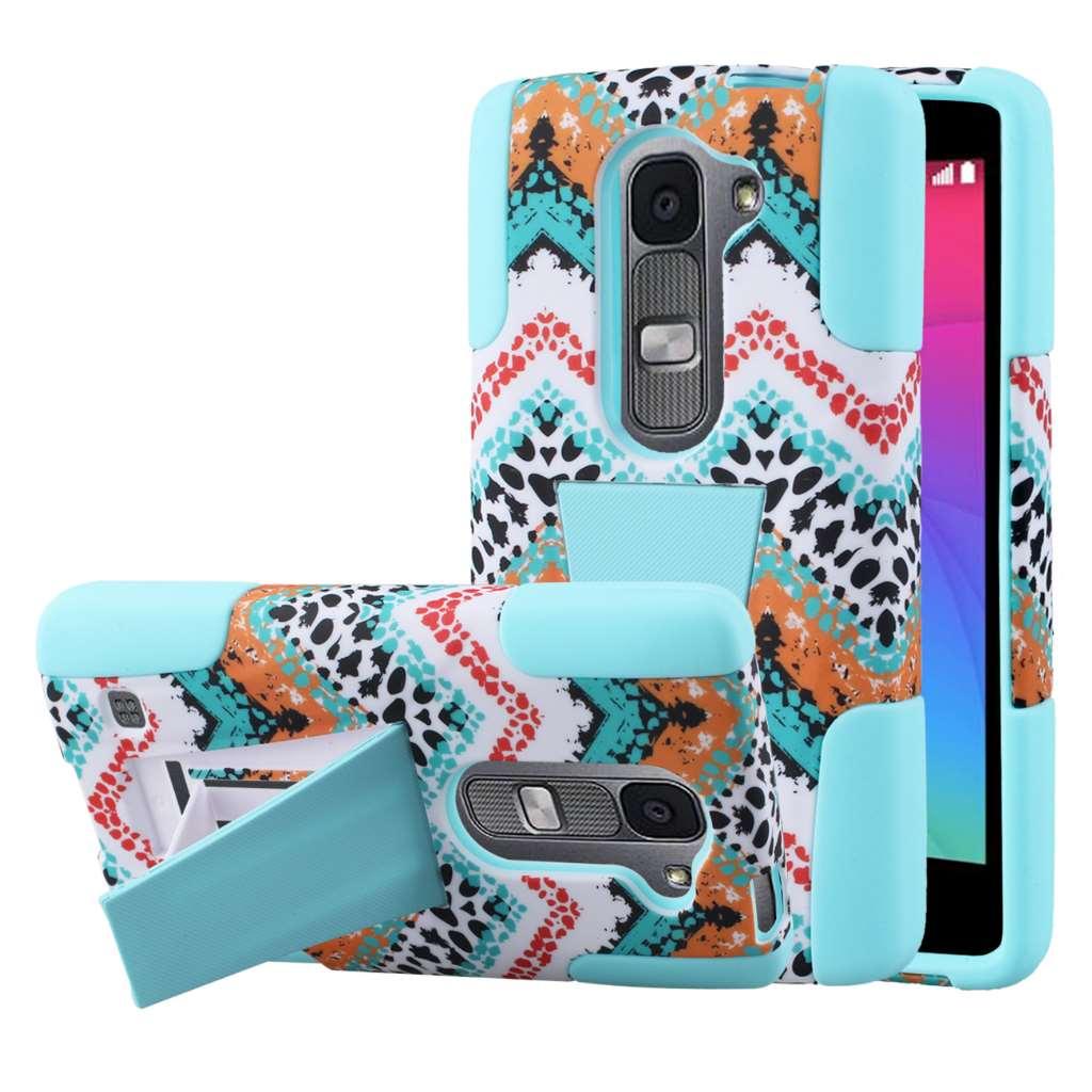 LG Leon - Aqua Safari MPERO IMPACT X - Kickstand Case Cover