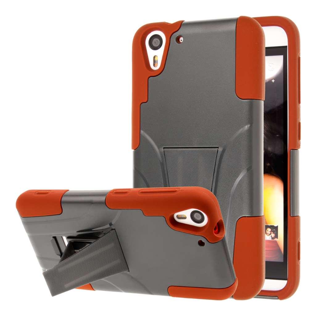 HTC Desire EYE - Sandstone / Gray MPERO IMPACT X - Kickstand Case Cover