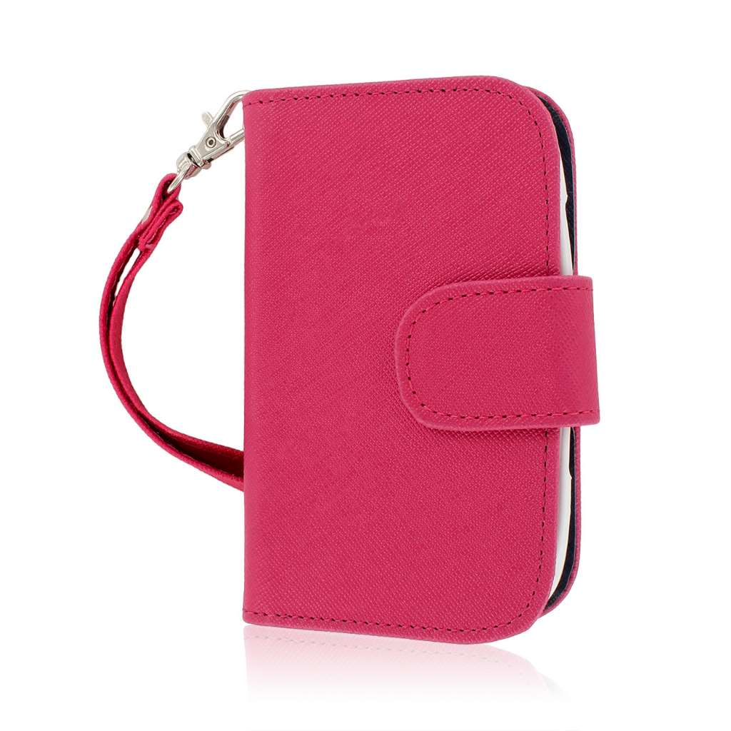 BlackBerry Curve 9310 / 9315 - Hot Pink MPERO FLEX FLIP Wallet Case Cover