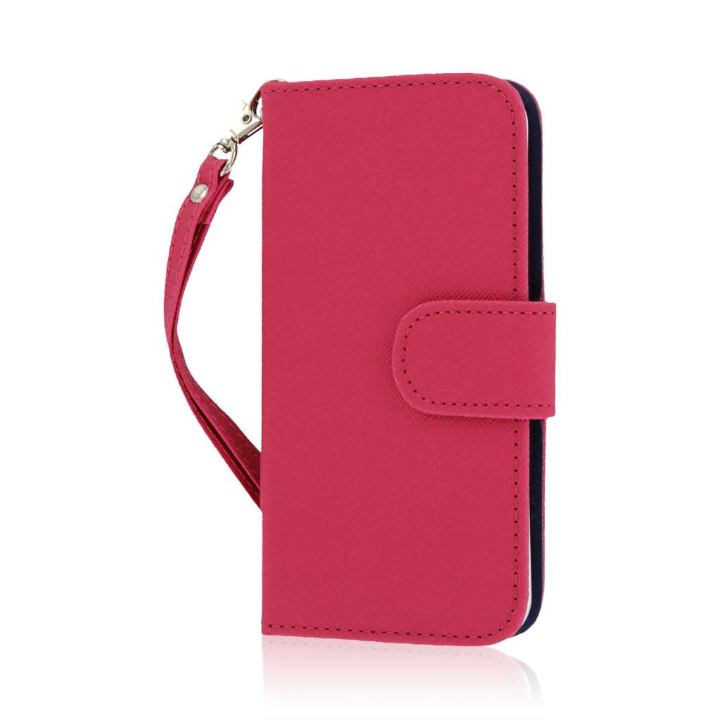 Apple iPhone 6/6S - Hot Pink MPERO FLEX FLIP Wallet Case Cover