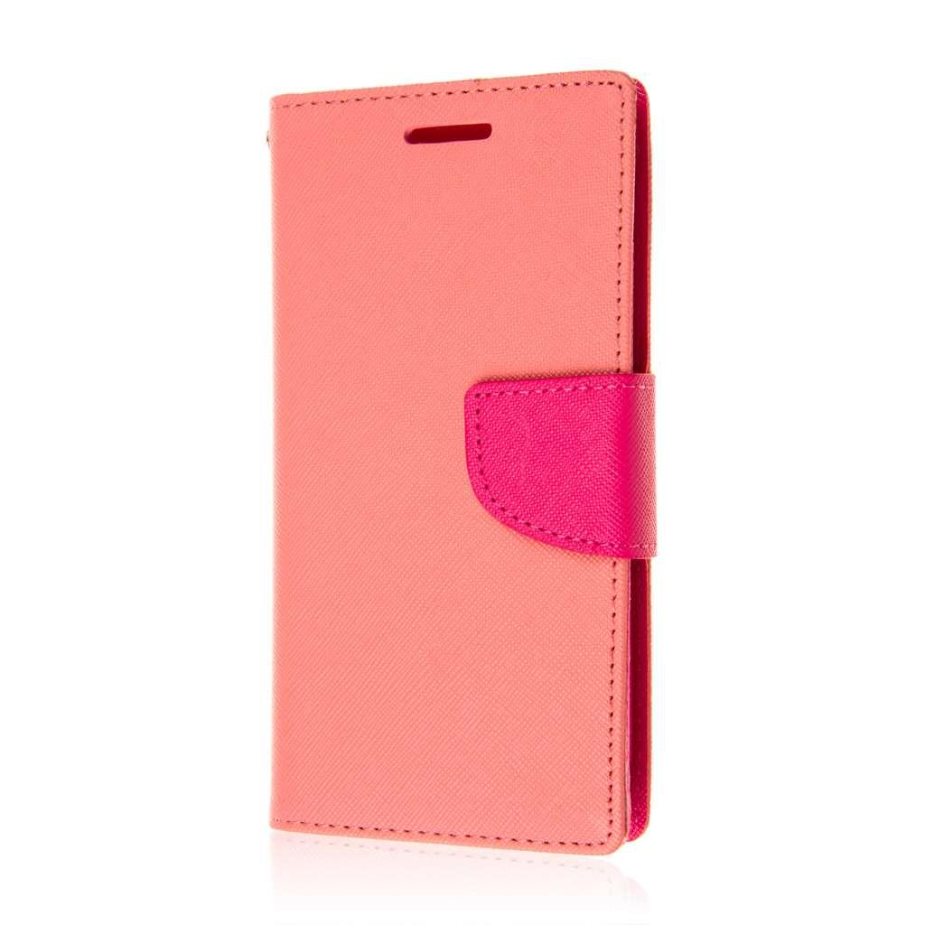 Motorola Moto G 2nd Gen 2014 - Pink MPERO FLEX FLIP 2 Wallet Stand Case