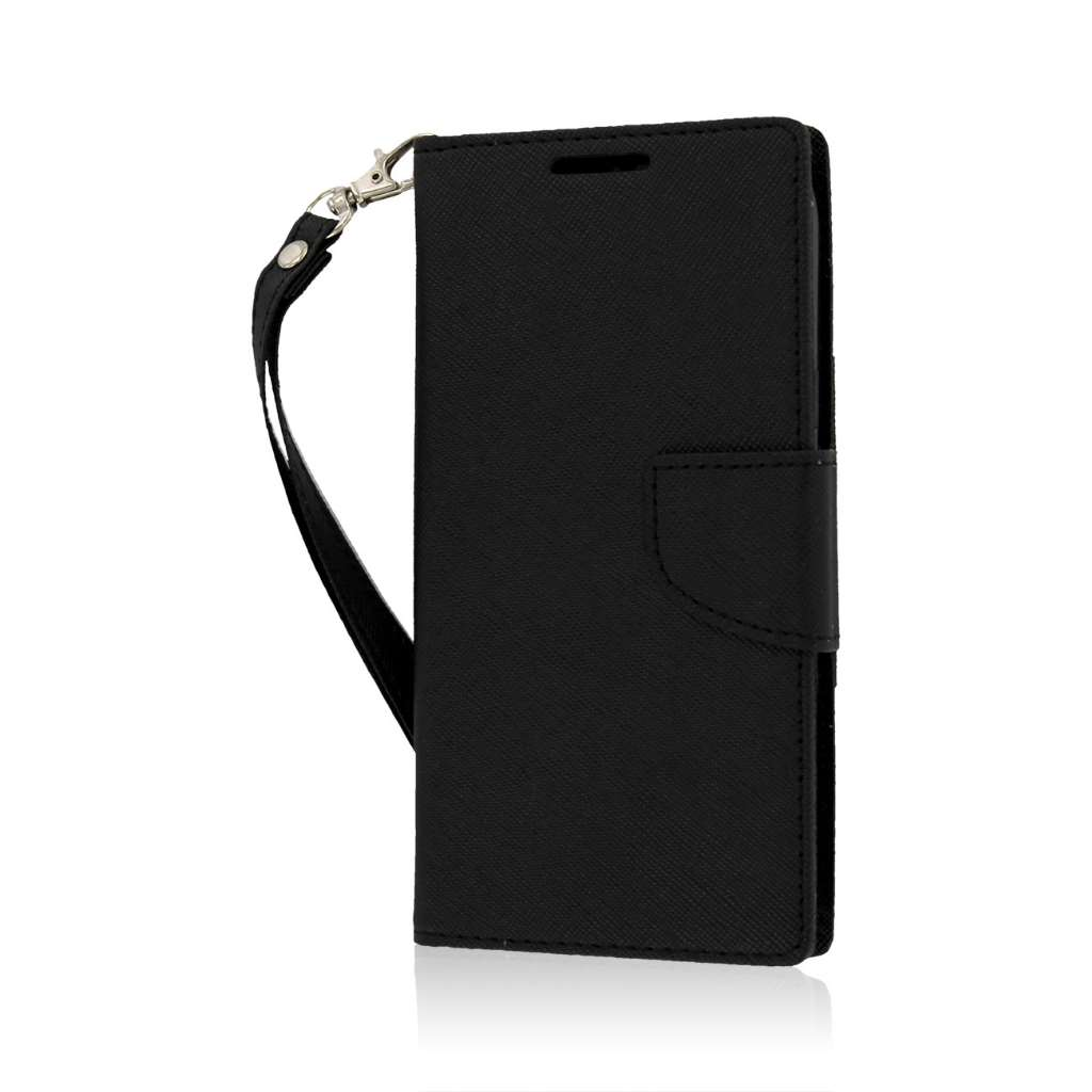 ZTE Grand X - Black MPERO FLEX FLIP 2 Wallet Stand Case Cover