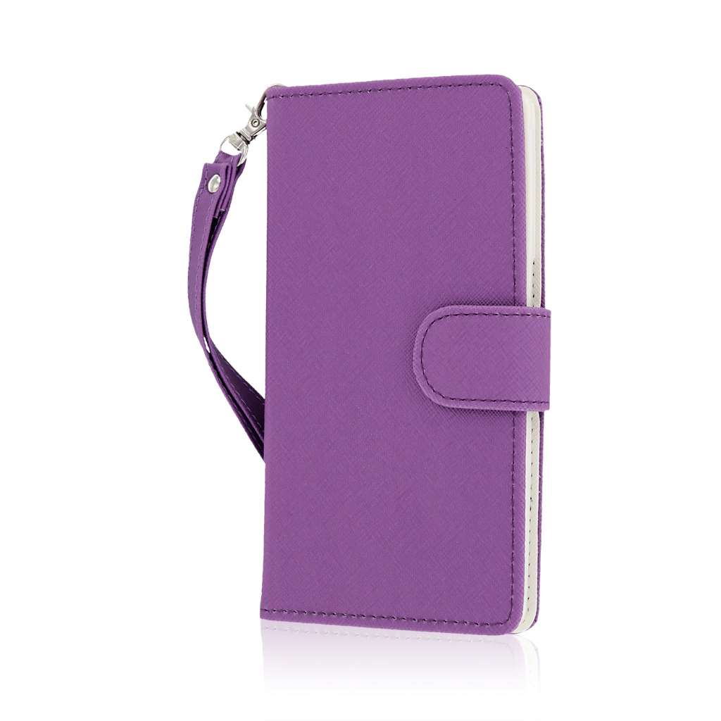 OnePlus One - Purple MPERO FLEX FLIP Wallet Case Cover
